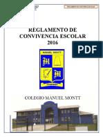 Reglamento de Convivencia Escolar Colegio Manuel Montt 2016