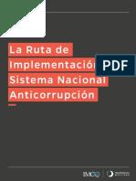 La ruta de implementación del Sistema Nacional Anticorrupción
