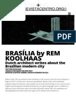 Brasília by Rem Koolhaas – en _ Revista Centro
