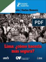 Lima Ciudad Nuestra - Cómo Hacerla Más Segura