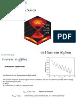 De Haas Van Alphen Effect