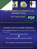 Cálculos Da Estimativa Da Necessidade Energética
