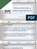 Presentación de Especialidades 2009 2010 Mayo 2015 1