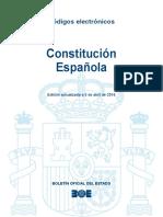Constitución Española 1978 Actualizada 2016