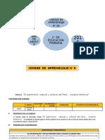 UNIDAD DE APRENDIZAJE N° 06  2° GRADO ED. PRIMARIA AGOSTO 2016