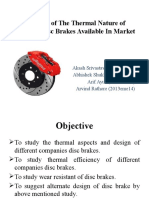 Studying the Thermal Nature of Different Disc Brakes