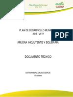 PLAN DE DESARROLLO DEL MUNICIPIO DE ARJONA BOLÍVAR 2016-2019.