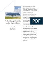 Final Report, Solar Energy Growth in the United States