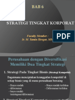 6. Strategi Tingkat Korporat
