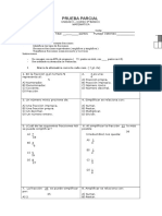 Evaluacion de Fracciones quinto basico