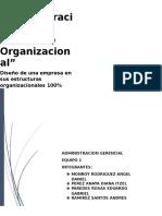 Diseño de Una Empresa en Sus Estructuras Organizacionales
