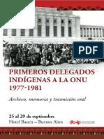 Primeros Delegados Indígenas a la ONU 1977-1981