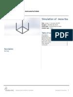 Mesa Fea SimulationXpress Study