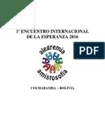 Libro de La Esperanza 2016