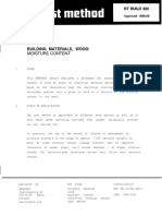 NT Build 302_ Building Materials, Wood_Moisture Content_Nordtest Method