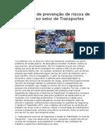 Estratégia de Prevenção de Riscos de Acidentes No Setor de Transportes