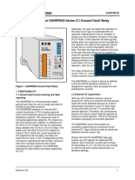 Instructions for D64RPB30 Series C1 Ground Fault Relay