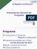 Presentación General Del Programa