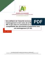 Avis délibéré de l'Autorité environnementale sur l'aménagement à 2x2 voies de la RN 154 et de la RN 12 par mise en concession et sur la mise en compatibilité des documents d'urbanisme avec cet aménagement (27-28)