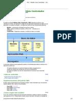 MVC - Modelo Vista Controlador - Articulos Otros - Programación Web