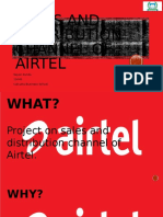 Sales and Distribution Channel of Airtel
