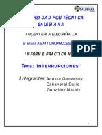 PRACT. 7 INTERRUPCIONES