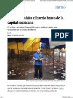 Ai Weiwei Visita El Barrio Bravo de La Capital Mexicana Arte Contemporáneo Chino