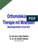 Orthomolekulare Therapie mit Mineralien