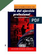 LIBRO ETICA Del Ejercicio Profesional