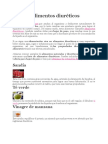 Lista de Alimentos Diuréticos - SD