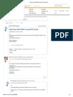 Data From SAP BAPI Using PHP Script _ SCN