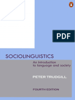 Peter Trudgill Sociolinguistics an Introduction to Language and Society