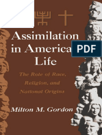Milton M. Gordon Assimilation in American Life the Role of Race, Religion and National Origins