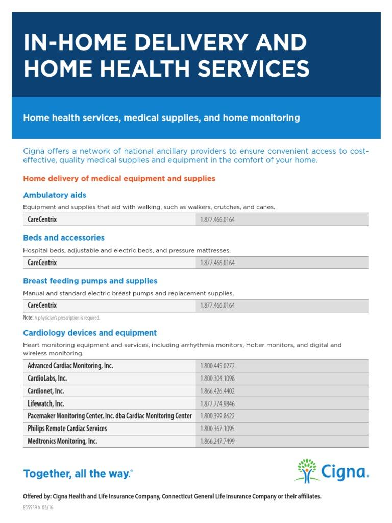 Home Delivery Medical Supplies Monitoring Medicine Cigna