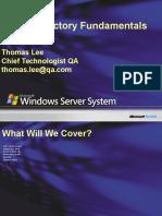 3rdNovember-Active Directory Fundamentals Administration
