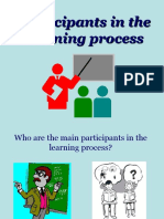 1. Participants in the Learning Process