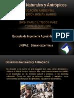 Desastres Naturales y Antrópicos