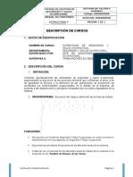 Manual de Funciones de Seguridad y Salud Ocupacional