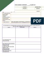 Formato de Planificación 2016