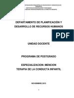 Programa de Terapia de La Conducta Infantil 2015.(1)