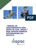 Anexo 18 b Manual de Mantenimiento Para Redes de Alta Media y Baja Tensión
