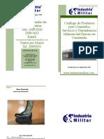 Catalogo Industria Militar Guatemala