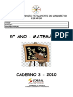 Caderno 3 - 5º Ano- Matemática 2010