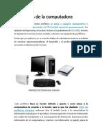 1. Perifericos de La Computadora