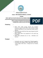 Surat Keputusan Pencabutan Anggota Himpro