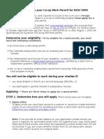 Guide 1 Work Permit Information