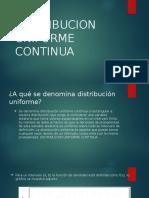 Distribucion Uniforme Continua