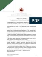 Comunicado de Imprensa da Reunião Extraordinária do Conselho de Ministros de 31.05