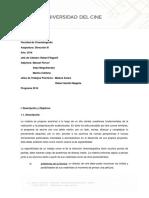 Programa Dirección III - Universidad Del Cine