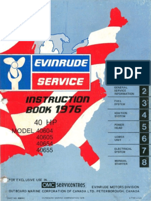 1976 Evinrude 40HP outboards Service Manual pdf | Propeller
